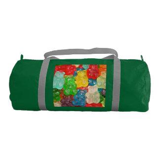 Big gummy bears pattern for big & small,candy,fun, gym duffel bag