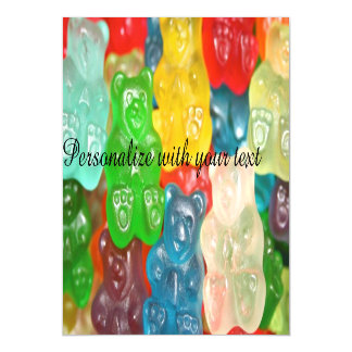 Big gummy bears pattern for big & small,candy,fun, magnetic card
