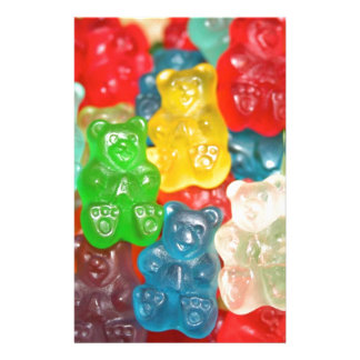 Big gummy bears pattern for big & small,candy,fun stationery