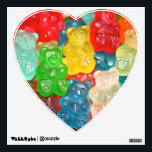 """Big gummy bears pattern for big &amp; small,candy,fun, wall sticker<br><div class=""""desc"""">Big gummy bears pattern for big &amp; small, candy, fun, trendy, happy girly, template, colorful</div>"""