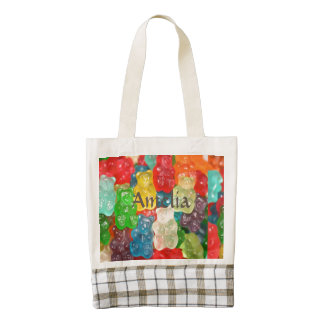 Big gummy bears pattern for big & small,candy,fun, zazzle HEART tote bag