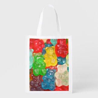 Big gummy bears pattern for big & small,candy,fun, reusable grocery bags