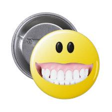 Big Gums Smiley Face Button