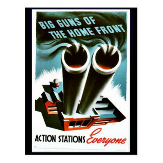 Big Guns Of The Home Front Postcard