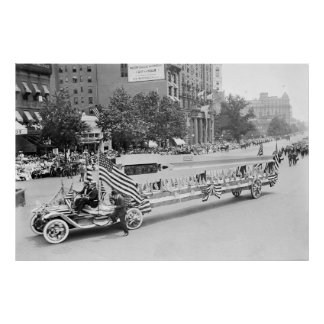 Big Guns on Parade: 1916 Poster