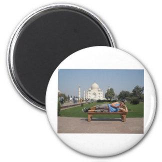 Big guy in India Fridge Magnets