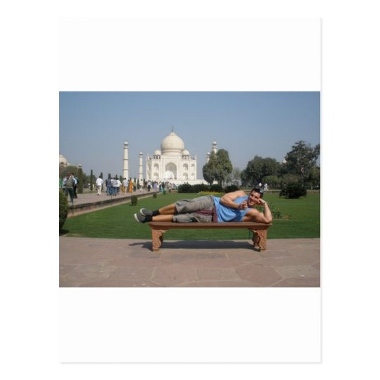 Big guy in India Postcard