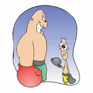 big guy vs little guy funny boxing cartoon photo sculptures