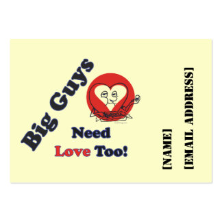 Big Guys Custom Calling Card Business Card