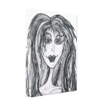 Big Hair Day Stretched Canvas Print