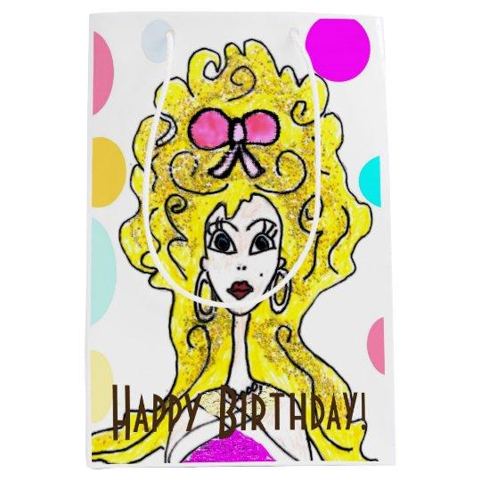 Big Hair Happy Birthday Gift Bag