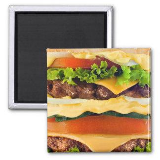 Big Hamburger 2 Inch Square Magnet