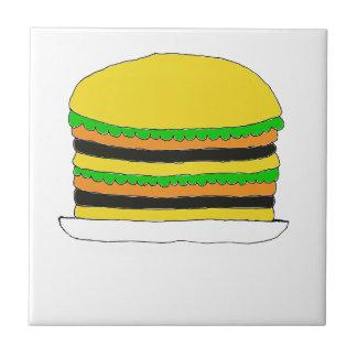 Big Hamburger Ceramic Tile
