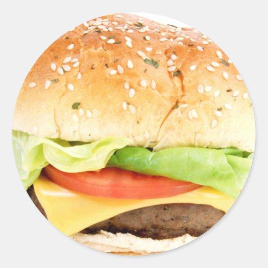 Big Hamburger Classic Round Sticker