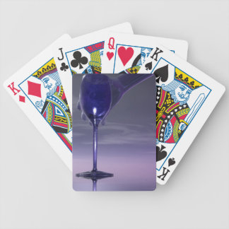 Big Hand Wine Glass Playing Cards