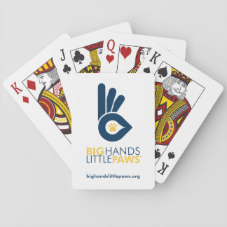 Big Hands Little Paws Playing Cards - Blue logo