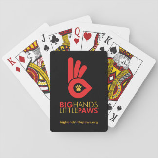 Big Hands Little Paws Playing Cards - Red logo