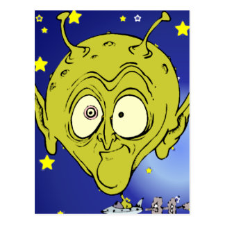 Big Head Alien Postcard