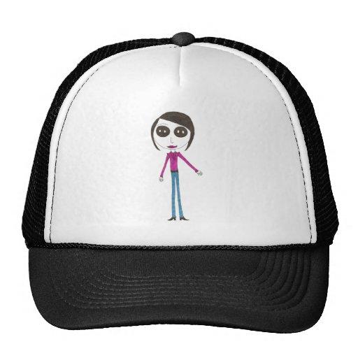 Big Head Button girl Trucker Hat