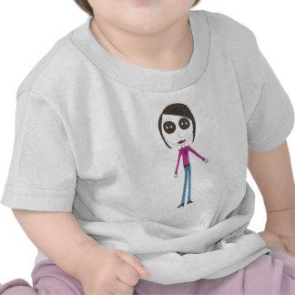 Big Head Button girl T-shirts
