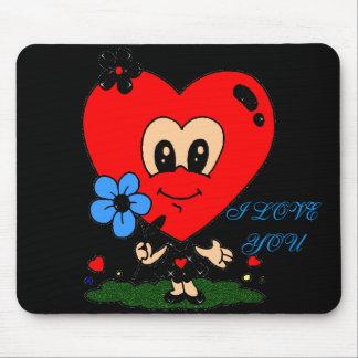 Big Head Heart Love! Mousepad