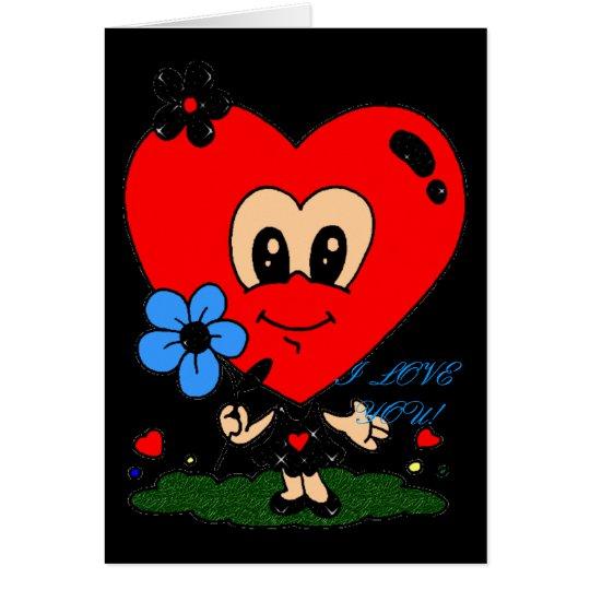 BIG HEAD HEART Romance! Greeting Card