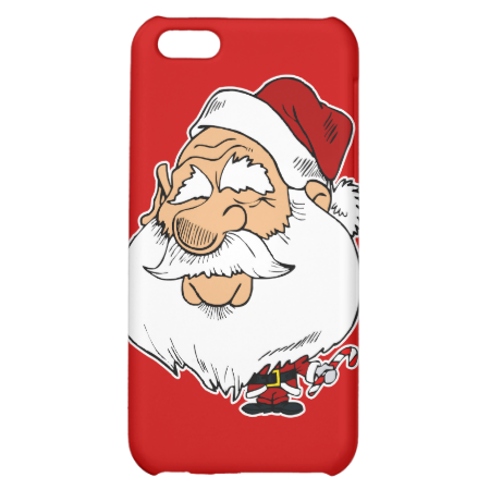 big head santa claus iPhone 5C cases