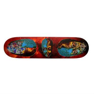 Big Headed Alien blue yellow fade Skateboard Deck