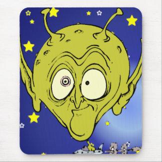 Big Headed Alien Mouse Pad