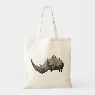 Big Headed Rhino Canvas Bags