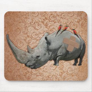 Big Headed Rhino Mouse Pad