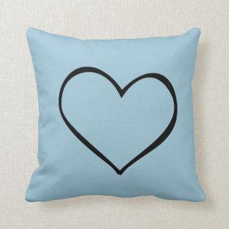 Big Heart Blue Pillow