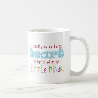 Big Heart: Counselor:Mentor:Teacher Classic White Coffee Mug