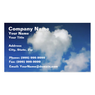 Big Heart on the Sky Double-Sided Standard Business Cards (Pack Of 100)