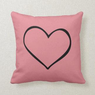Big Heart Pink Pillow