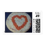 big heart pizza love stamp