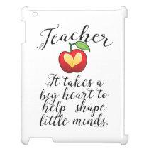 Big Heart To Help Shape Little Minds Teacher iPad Case