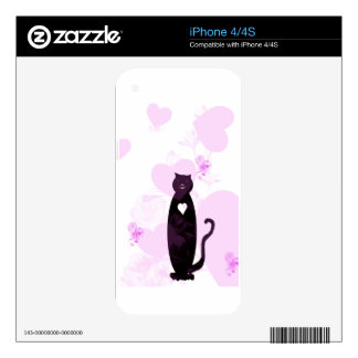 Big Hearted Cat Decals For iPhone 4S