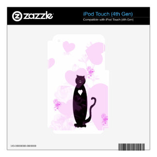 Big Hearted Cat iPod Touch 4G Skin