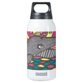 Big Hearted Whale Folk Art Thermos Bottle