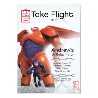 Big Hero 6 Baymax Birthday Invitation