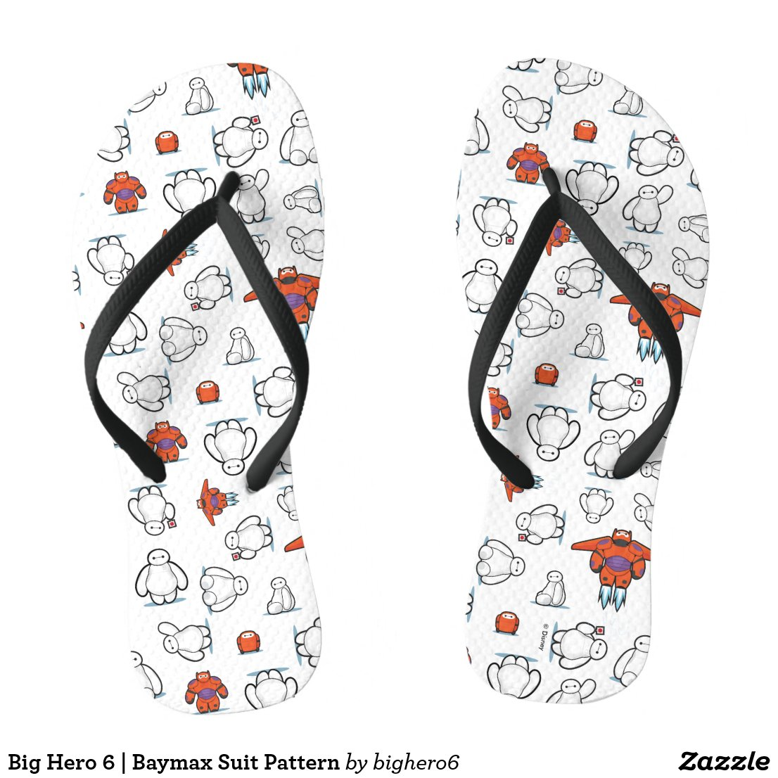 Big Hero 6 | Baymax Suit Pattern Flip Flops
