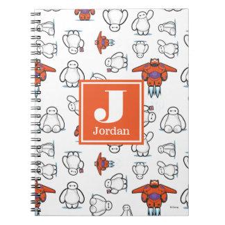 Big Hero 6   Baymax Suit Pattern Spiral Notebook