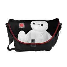 Big Hero 6 | Baymax With Lollipop Messenger Bag at Zazzle