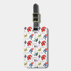 Small Luggage Tag with leather strap with Big Hero 6 Stylized Pattern design