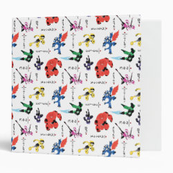 Avery Signature 1' Binder with Big Hero 6 Stylized Pattern design