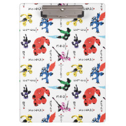 Clipboard with Big Hero 6 Stylized Pattern design