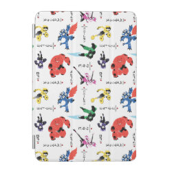 iPad mini Cover with Big Hero 6 Stylized Pattern design