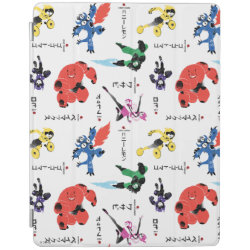 iPad 2/3/4 Cover with Big Hero 6 Stylized Pattern design