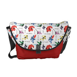 Rickshaw Medium Zero Messenger Bag with Big Hero 6 Stylized Pattern design